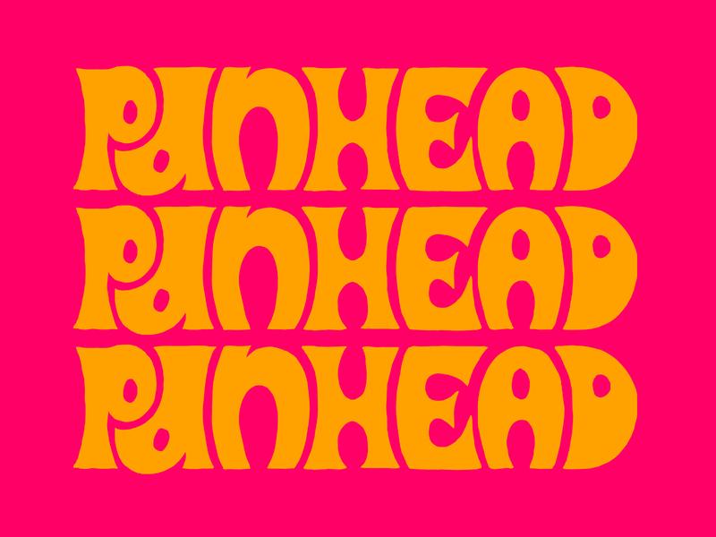 PANHEAD LETTERING old school vintage panhead america lockup branding type design typography type letters badge harley davidson