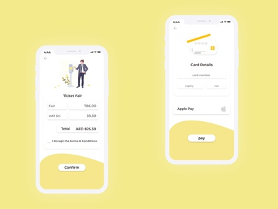 Ticket Booking App UI