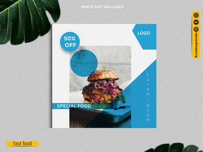 Tasty burger  - Social Media Online Banner