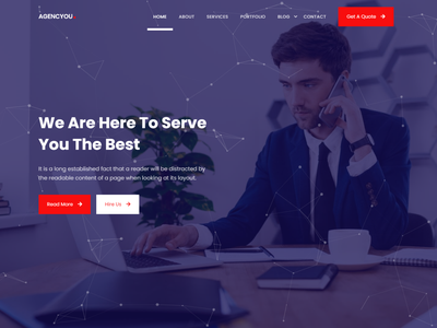 AgencYou - One Page Agency Template unique particles one page multpurpose multipage html digital marketing digital agency corporate business bootstrap agency