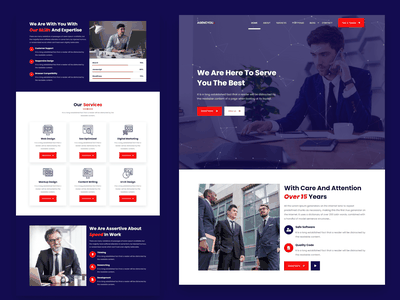 AgencYou - One Page Agency Template unique particles one page multipurpose multipage html digital marketing digital agency corporate business bootstrap agency