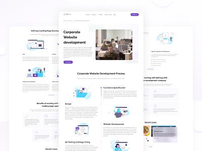 Softvoya Website clean minimal softvoya it company brand vector typography webdesign website web branding illustration ux ui design