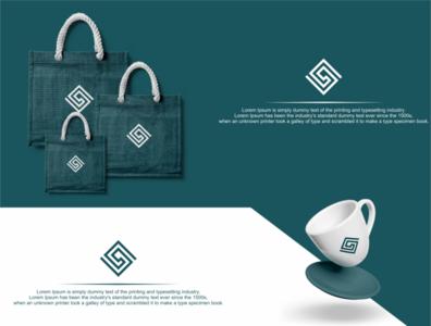 s logo box monogram typography vector icon lettering logo monogram branding illustrator illustration design box