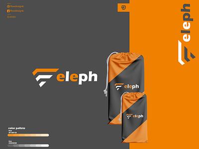 Eleph monogram logo logo illustrator branding flowdesign6 lettering illustration design elogo e monogram elephants eleph elephant
