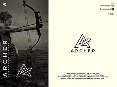 archer consulting company vector branding lettering illustrator illustration flowdesign6 monogram logo design company consulting archer