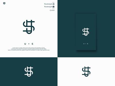 U + S Logo Inspiration branding illustration illustrator lettering flowdesign6 design logo letter monogram us luxury s u