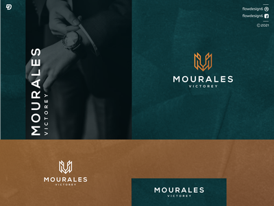 Mourales Victorey Logo Inpiration illustrator lettering monogram flowdesign6 illustration logo design minimalist gold luxury v m mv