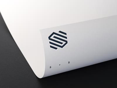 S + S Logo vector illustration lettering flowdesign6 logo illustrator monogram design slogo ss hexagon s