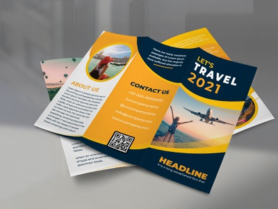 Creative Trifold Travel Brochure Template Design creative-business-card logo business card design template business card design typography branding flyer 2 illustration vector designer design