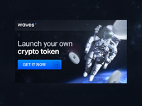 Banner advertises Waves Token Launcher