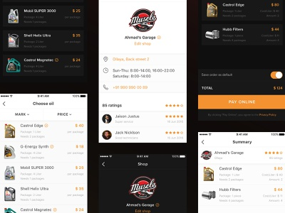Visual concepts for Abdul Latif Jameel® Priority Club mobile shops cars oil visual conception ux ios ui app