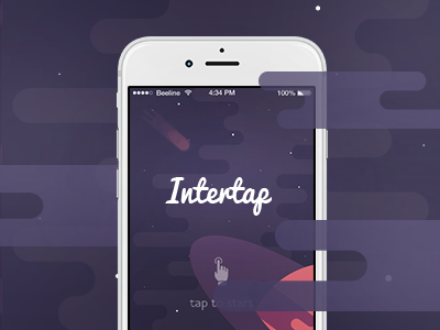 Intertap – Behance Preview Image ux ui gameplay game flat space preview behance