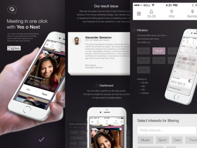 Yes o Next – Presentation for Behance