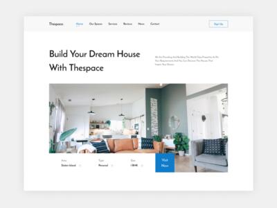 House Website - Homepage ui  ux login houses website design webdesign website homepage signup ui design hero house ui web design uiux home design dailyui uidesign figma