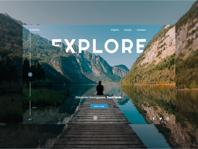 Discover Konigssee lake travel agency vacation tourism tour nature explore travelling traveling travel app travel web ui design