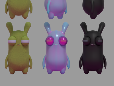 Eye Guys design cycles vinyl toy characters illustration 3d