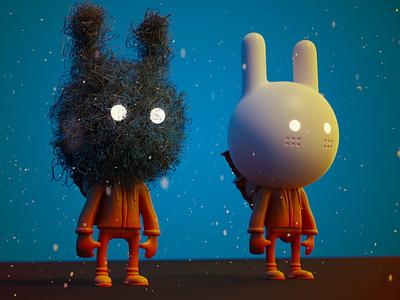 Rabbit Warriors cycles character toy vinyl blender