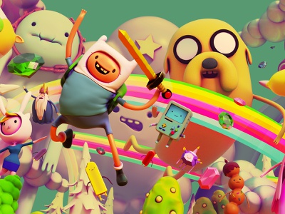 Adventure time tribute blender art 3d adventure time illustration