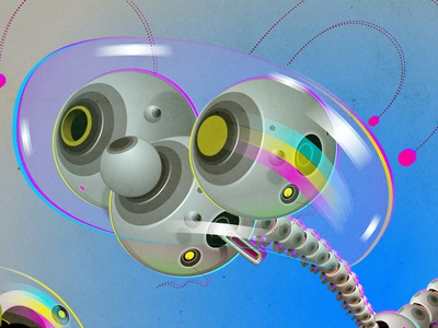 Dog dog robot affinitydesigner vector illustration