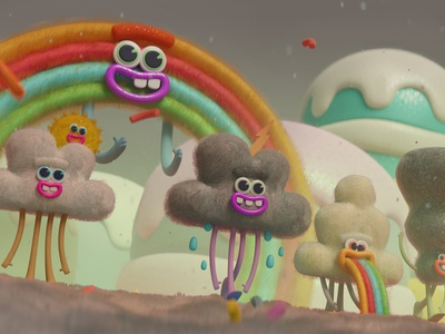 clouds art toy cute adventure blender characters illustration