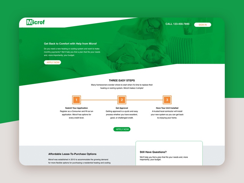 Microf Apply Now Landing Page