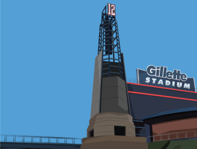 Gillette Stadium boston patriots sports nfl illustrator design illustration
