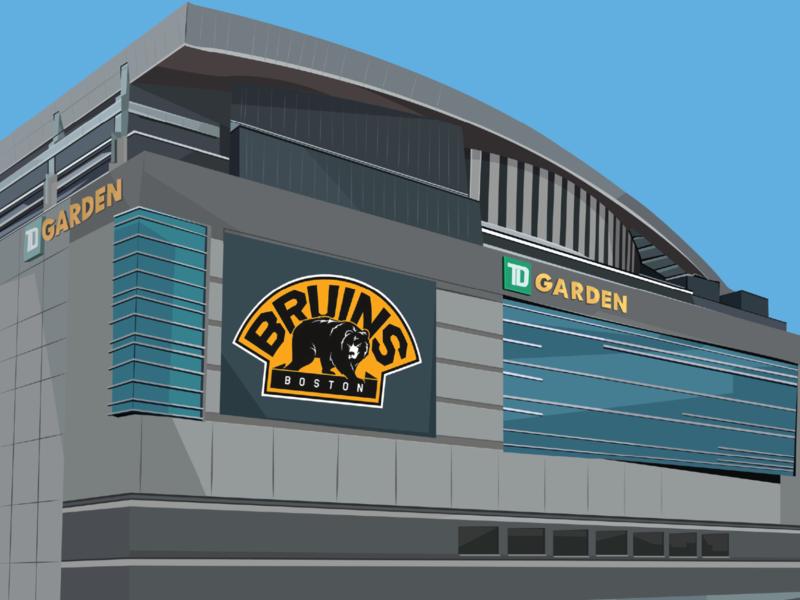 TD Garden bruins nhl sports illustrator boston design illustration