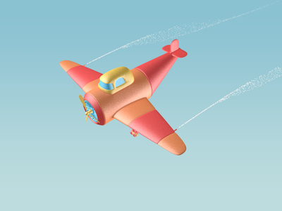 Shaking plane design ui c4d