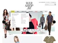 Webshop homepage