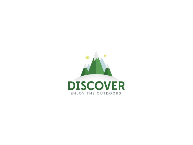 Logo Discover white logo green blue noise discover outdoors