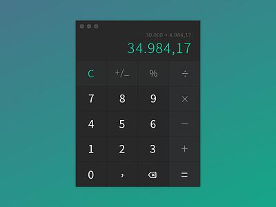 Daily UI #004 - Calculator daily ui calculator ux ui black green