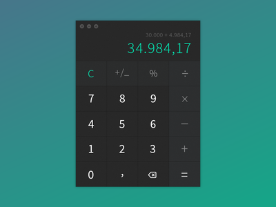 Daily UI #004 - Calculator daily ui calculator ux ui black green