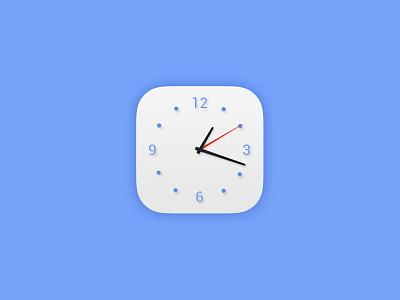 Daily UI #005 - App Icon ui dailyui clock white blue icon app