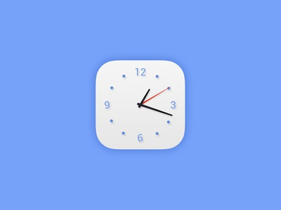 Daily UI #005 - App Icon ui dailyui clock white blue icon app