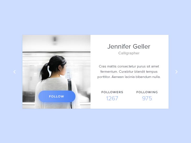Daily UI #006 - User Profile user profile follow button ux ui blue daily ui