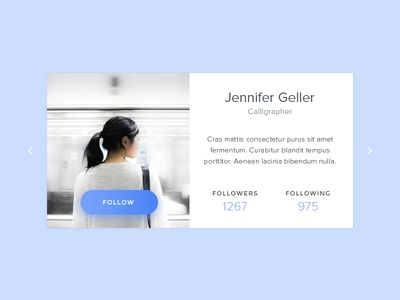 Daily UI #006 - User Profile user profile follow button ux ui blue daily ui