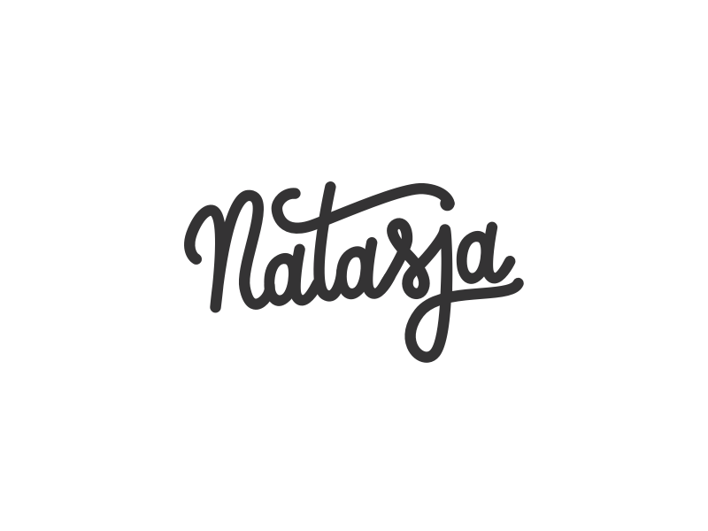 Logo logotype type handwritten illustrator lettering black white logo