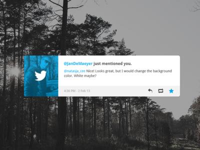 Twitter Notification Rebound