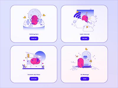 Null State: Hobee & Diu :) design illustration app mobile ui