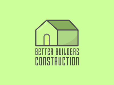 Construction Company Logo Concept construction house vector logo branding dailylogo dailylogochallenge