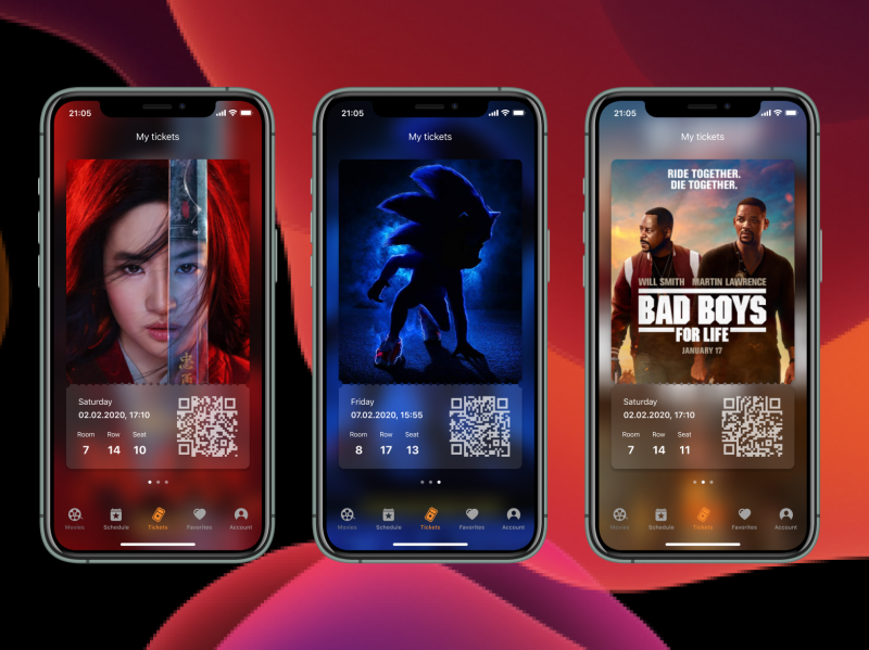 Movie Tickets Booking - Mobile App IOS