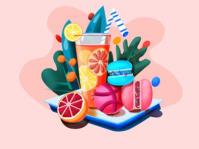 Hello Dribbble art type minimal flat web icon typography vector logo illustration