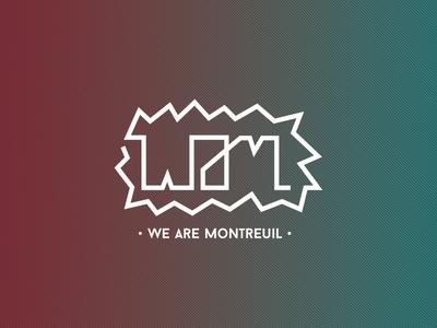 We Are Montreuil logo identity wam tech festival skyline branding