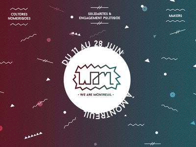 We Are Montreuil branding logo identity tech festival