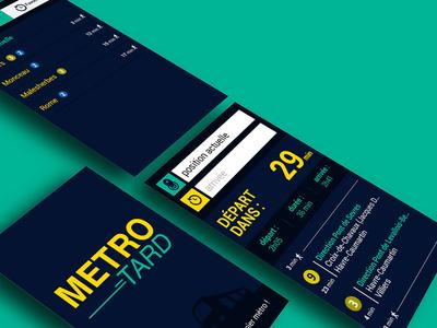 Metrotard app UI ui mobile app night