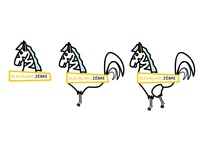 Zebra / Rooster