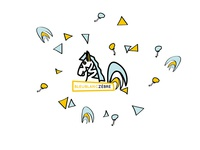 Zebra / Rooster logo