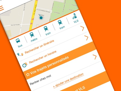 Public Transport App UI transport mobile ui