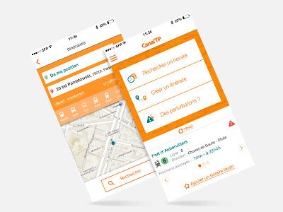 Public Transport App UI mobile transport app interface ui
