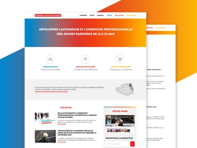 Mission Locale gradient clean interface web ui